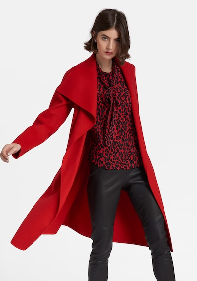 Uta Raasch Mantel aus Schurwolle und Seide in rot, Modelansicht
