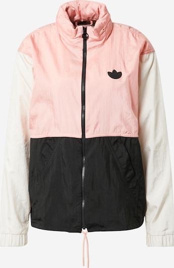ADIDAS ORIGINALS Overgangsjakke i beige / pink / sort, Produktvisning