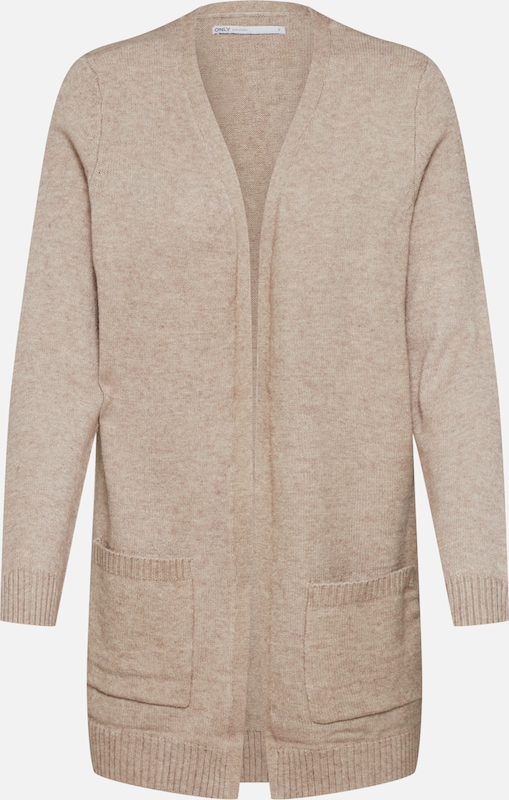 ONLY Strickjacke 'ONLLESLY L/S OPEN CARDIGAN KNT' in beige, Produktansicht
