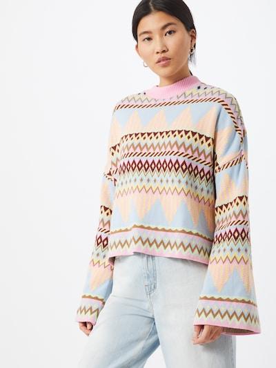 Crās Pullover in mischfarben, Modelansicht