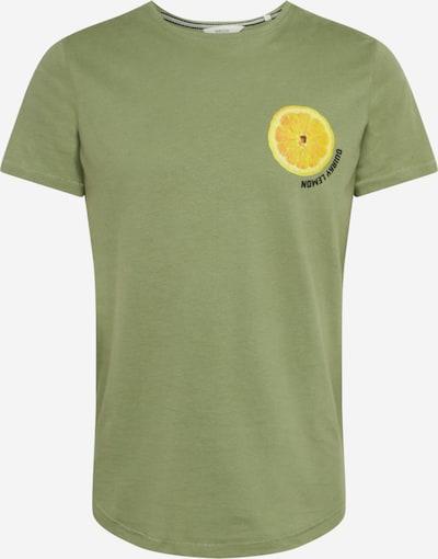 !Solid Shirt 'Joakim' in oliv / orange, Produktansicht