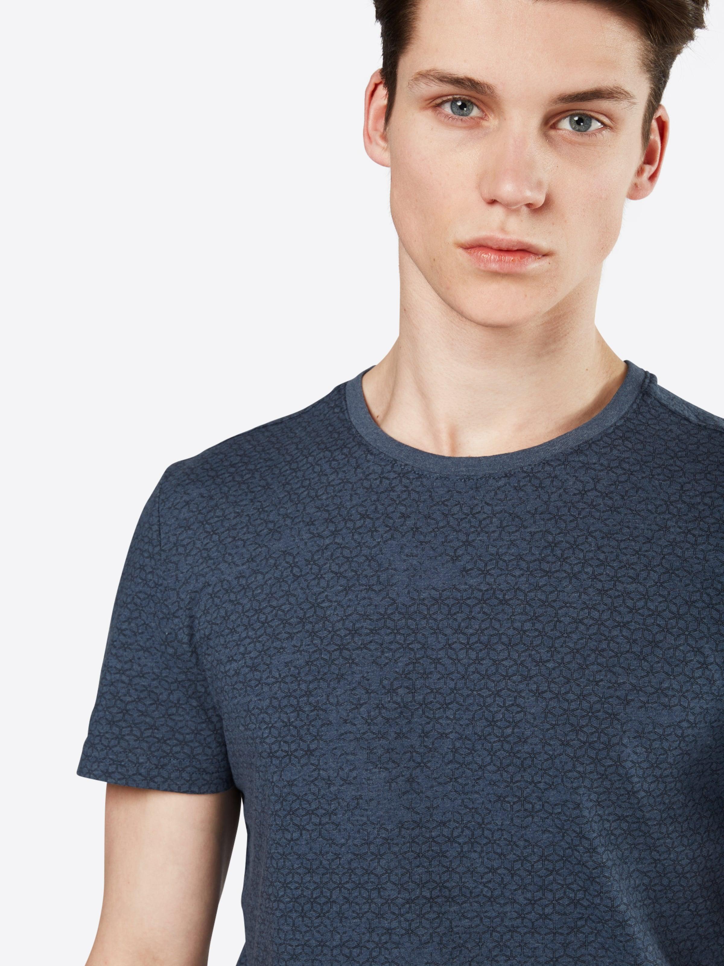 TOM TAILOR T-Shirt mit Allover-Muster Freiheit Der Billigsten TFPKj