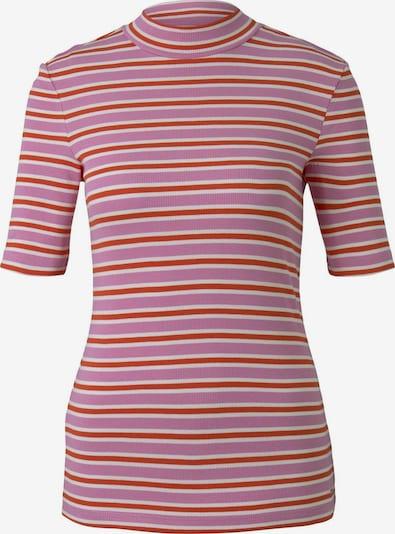 TOM TAILOR DENIM T-Shirt in beige / dunkelorange / pink, Produktansicht