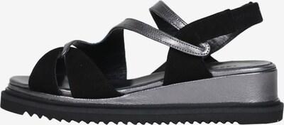 Accessoire diffusion Sandale 'Gandhi' in schwarz / silber, Produktansicht
