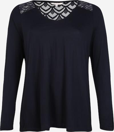 ONLY Carmakoma Majica 'CARFLAKE LS MIX TOP' | nočno modra barva, Prikaz izdelka