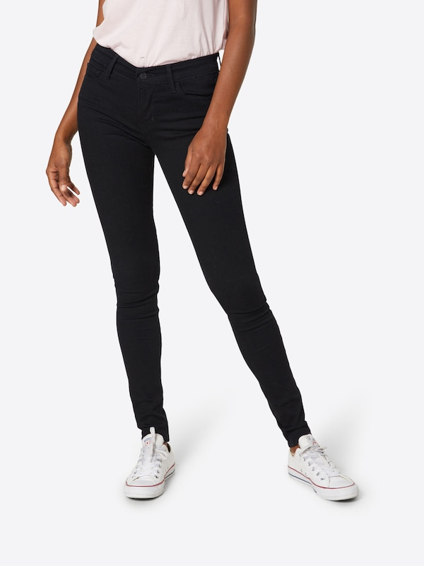 Jean Innovation Super En Noir Levi's Denim '710 Skinny' ALR354j