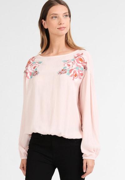 DREIMASTER Bluse in mint / rosa / rosé / schwarz, Modelansicht