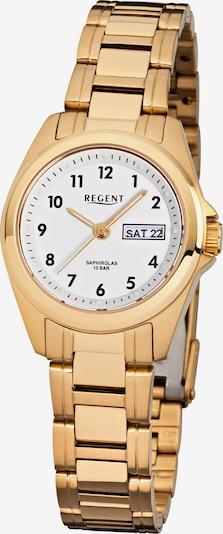 REGENT Uhr in gold / weiß, Produktansicht