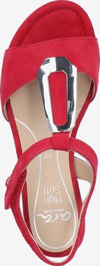 ARA Sandalen met riem in Rood / Zilver Hc9BLhHq