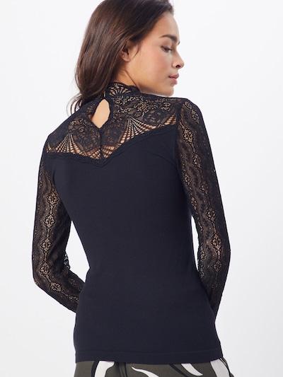 OBJECT Shirt 'Mellany' in de kleur Zwart: Achteraanzicht