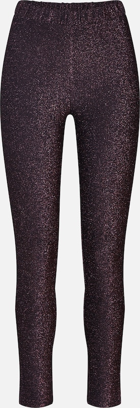 PIECES Leggings 'PCINFINA' in bordeaux / schwarz, Produktansicht