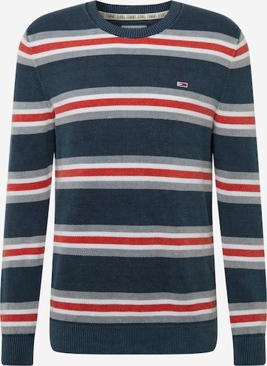 Tommy Jeans Kampsun meresinine / hall / punane / valge: Eestvaade