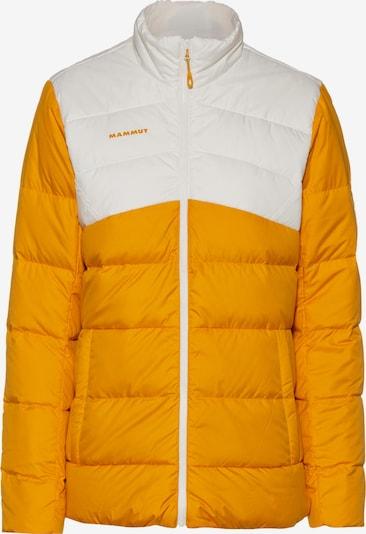 MAMMUT Outdoorjas 'Whitehorn' in de kleur Goudgeel / Wit, Productweergave