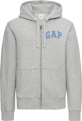 GAP Sweatjacke 'CHAMBRAY FLAG LOGO FZ HD'