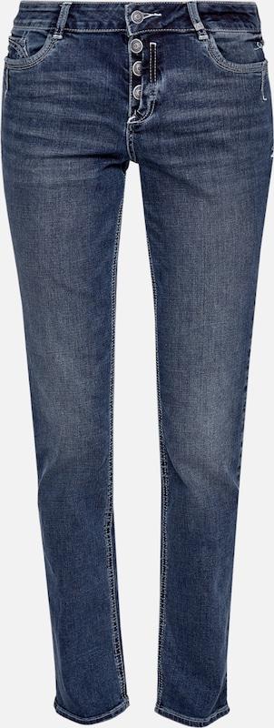 S.Oliver rot LABEL Smart Straight  Stretchjeans in Blau denim  Markenkleidung für Männer und Frauen