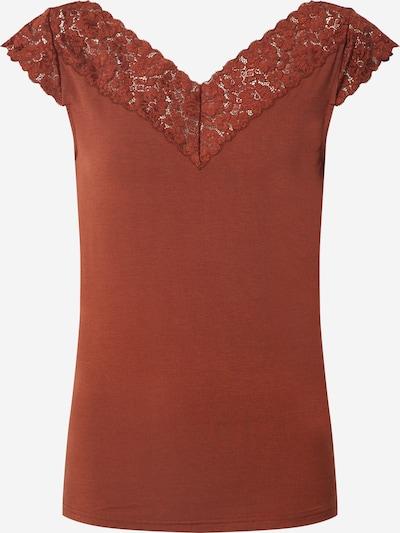 rosemunde T-shirt en marron, Vue avec produit