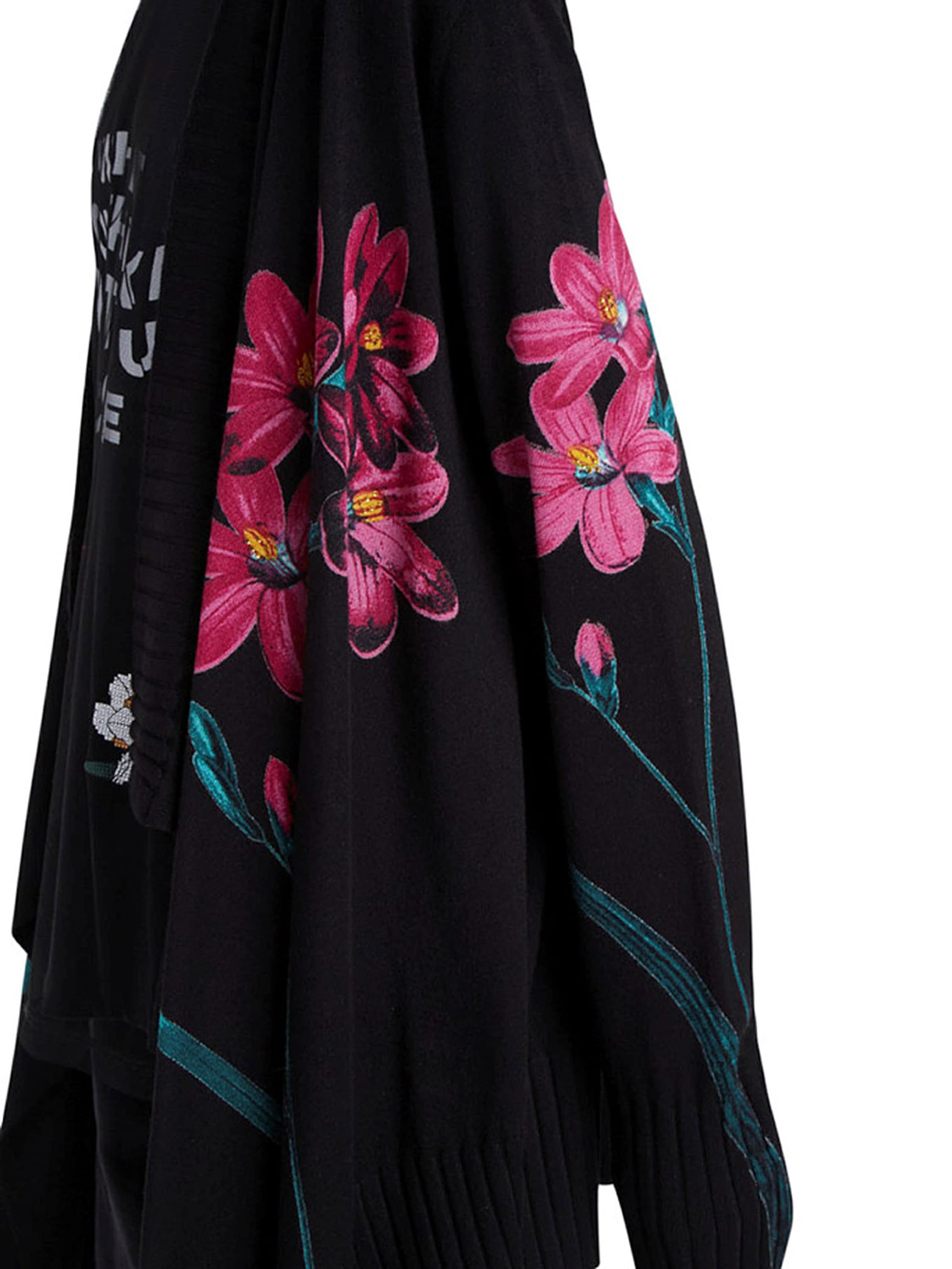 Desigual Kardigán 'Amarante' szürke / rózsaszín / fekete színben