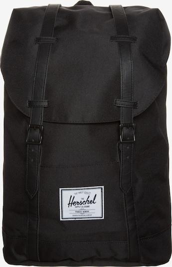 Herschel Rucksack 'Retreat' in schwarz / weiß, Produktansicht