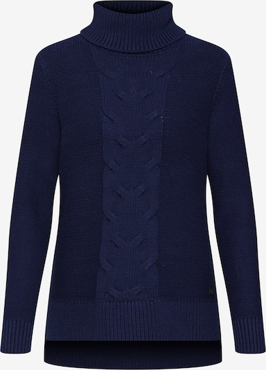 EDC BY ESPRIT Pullover 'cable roll neck' in navy, Produktansicht
