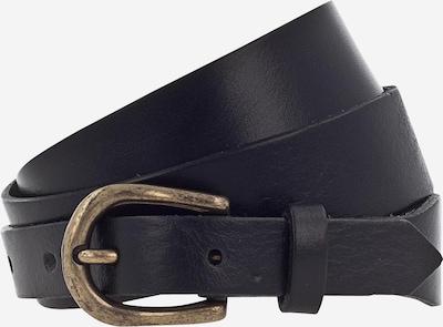 MUSTANG Ledergürtel '30mm' in gold / schwarz, Produktansicht