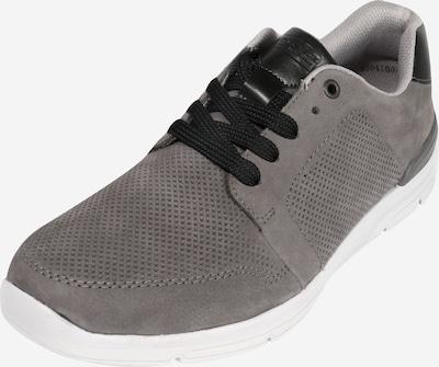 Sneaker low RIEKER pe gri / negru: Privire frontală