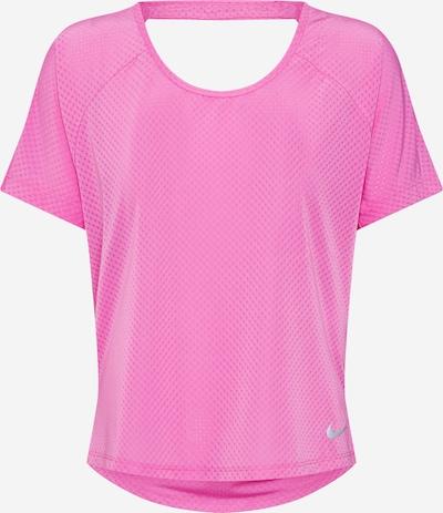 NIKE Sportshirt 'MILER' in pink / silber, Produktansicht