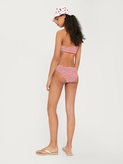 EDITED Bikinihose 'Midori' in rot / weiß: Rückansicht