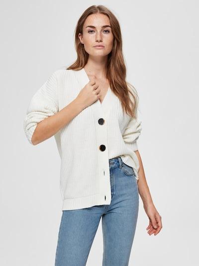 SELECTED FEMME Strickjacke in weiß, Modelansicht