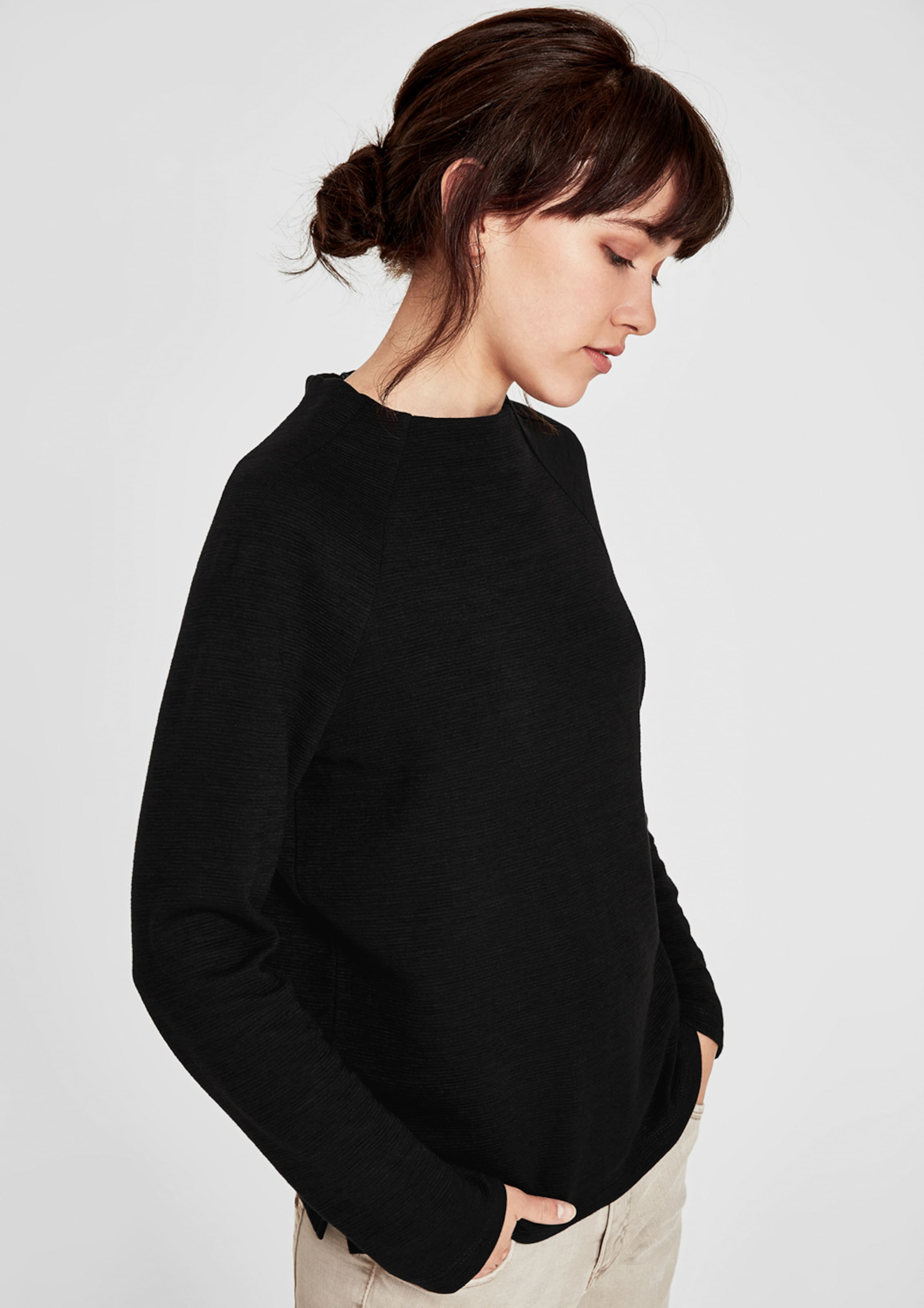 Sweatshirt In Schwarz S oliver oliver S Sweatshirt hdtrQCs