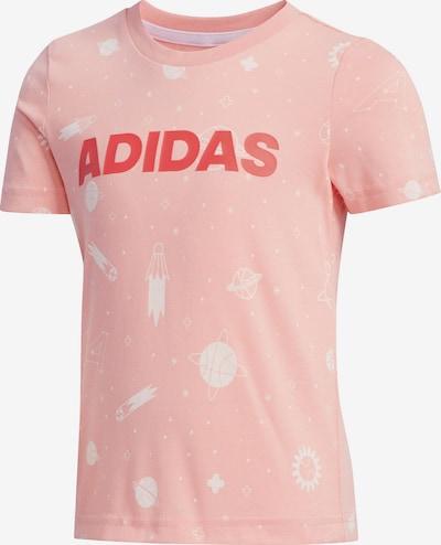 ADIDAS PERFORMANCE T-Shirt in rosa / rot / naturweiß, Produktansicht