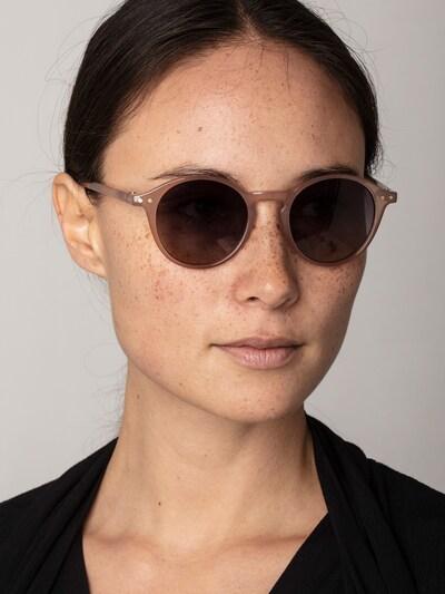 Pilgrim Sonnenbrille 'Roxanne' in beige / nude: Frontalansicht