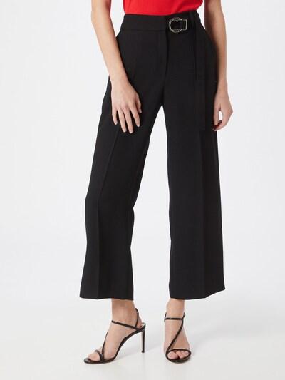 Pantaloni cu dungă 'Hedaya' HUGO pe negru: Privire frontală
