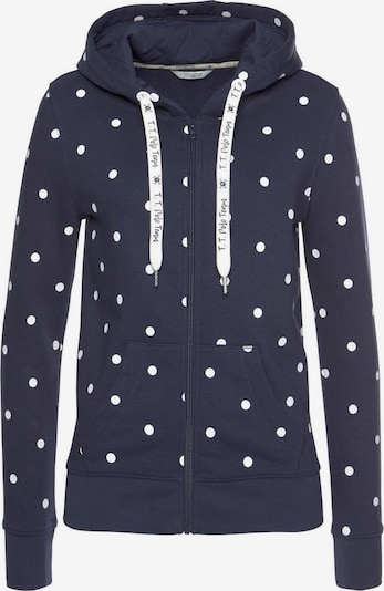 Tom Tailor Polo Team Sweatjacke in navy / weiß, Produktansicht