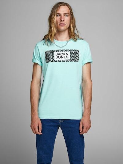 JACK & JONES T-Shirt en turquoise: Vue de face