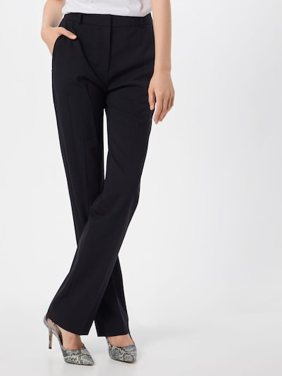 Kelnės su kantu iš HUGO , spalva - juoda, Modelio vaizdas