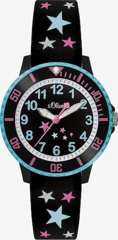 s.Oliver Uhr in Schwarz