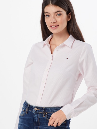 TOMMY HILFIGER Blouse in de kleur Rosa / Wit, Modelweergave