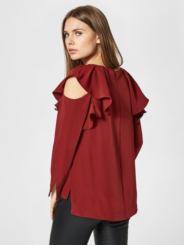 Selected Femme Cold-shoulder Bodice With Long Sleeves