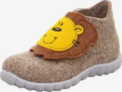 SUPERFIT Pantoufle en beige / marron / jaune, Vue avec produit