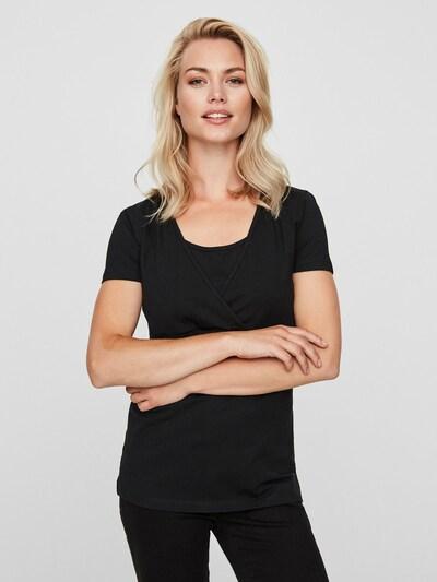 MAMALICIOUS T-shirt en noir / blanc: Vue de face