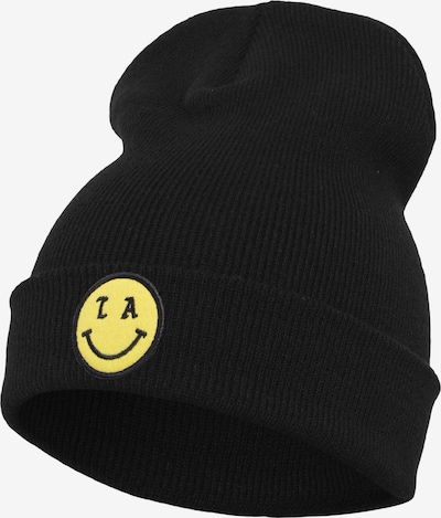 Urban Classics Beanie 'LA Smile' in gelb / schwarz: Frontalansicht