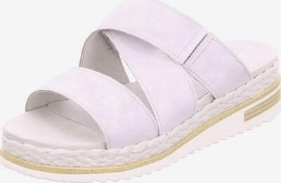 Franz Ferdinand Pantolette in beige / platin / weiß, Produktansicht
