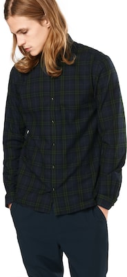 The Kooples Koszula 'CHECK SHIRT WITH A CLASSIC COLLAR, CHEST BADGE AND STRAIGHT HEM'
