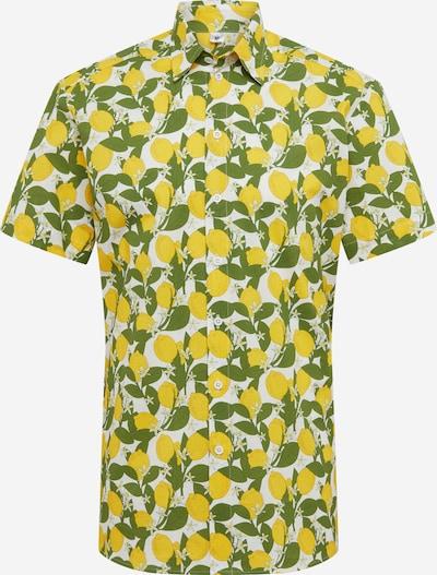 Degree Hemd 'Zitroner' in gelb / grün / weiß, Produktansicht