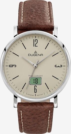 DUGENA Uhr in braun / silber, Produktansicht