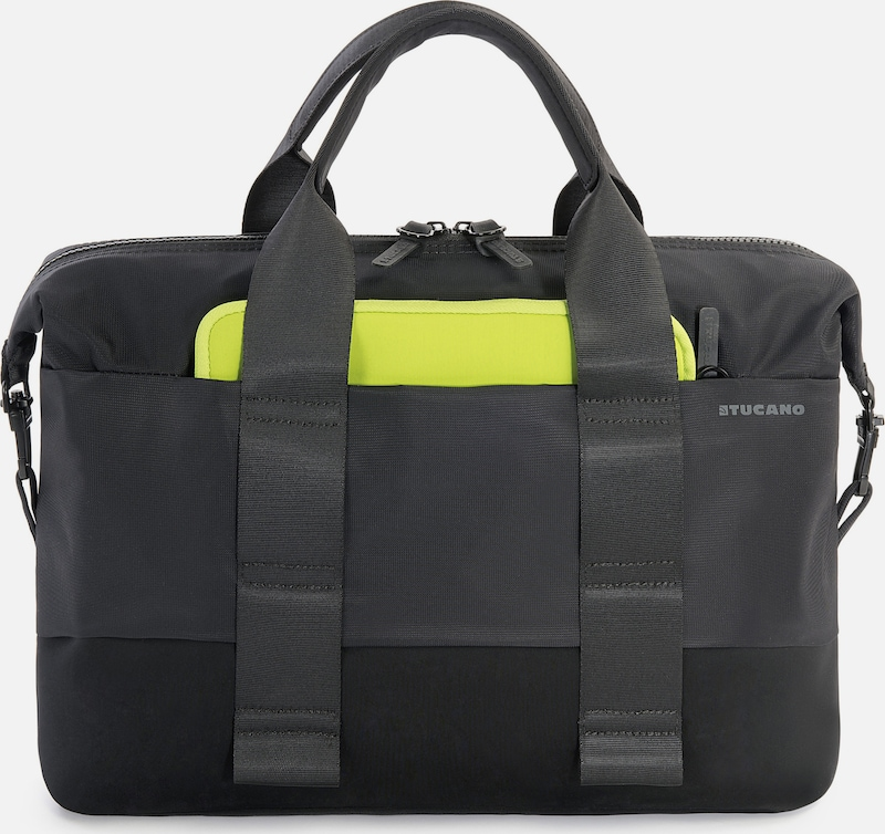 TUCANO Aktentasche Laptop business slim bag in neongrün / schwarz, Produktansicht