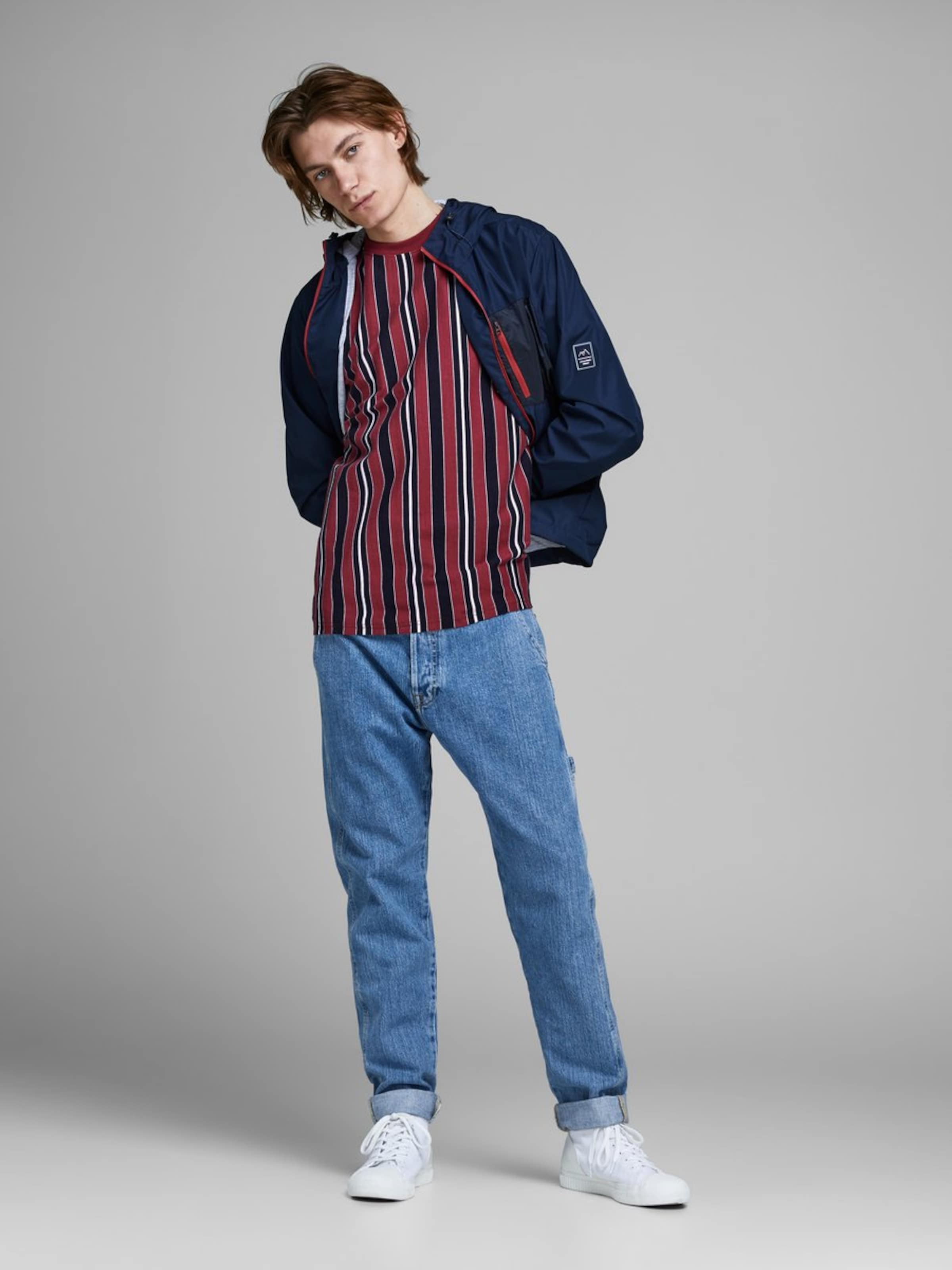 In shirt DunkelblauWeinrot Jackamp; T Jones ZnwOPkXN80