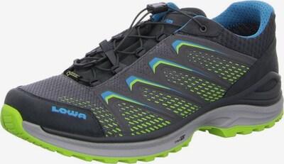 LOWA Sportschoen 'Maddox GORE-TEX ' in de kleur Neonblauw / Limoen / Zwart, Productweergave
