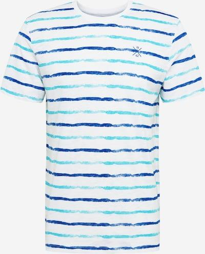 TOM TAILOR Shirt in de kleur Blauw / Wit, Productweergave