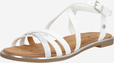Sandale cu baretă MUSTANG pe alb, Vizualizare produs